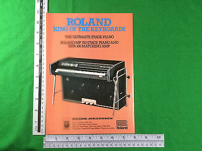 advert for - Roland MP700 stage piano and MPA100 amplifier