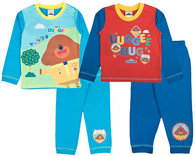 Hey Duggee Pyjamas Girls Boys Long Pjs Set Squirrel Club Kids Infants Nightwear