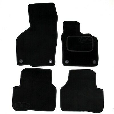 VW Passat B6 B7 2005-2015 Tailored Carpet Car Mats Round Clips 4pcs Floor Set