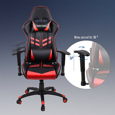 Office Gaming Chair Racing High Back PU Leather Swivel Ergonomic Computer Home