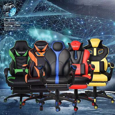 Racing Style Gaming Chair Computer High Back PU Leather Ergonomic Office Seat US