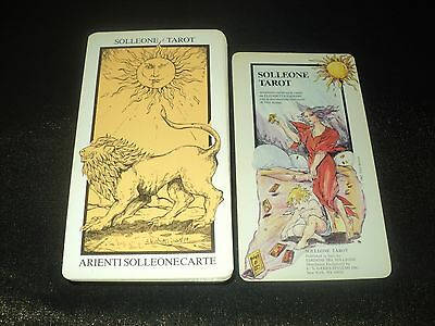 Vintage 1983 Solleone Tarot Cards Deck - Complete - 78 Cards Illustrated Minors