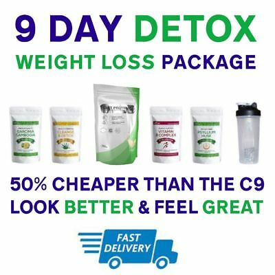 9 Day Weight Loss [ Detox ] Package with DIET Shakes - [ Similar to Forever C9 ]