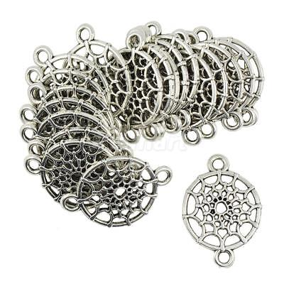 20pcs Tibetan silver Dream Cather Pendant Jewelry Making Connector Charms