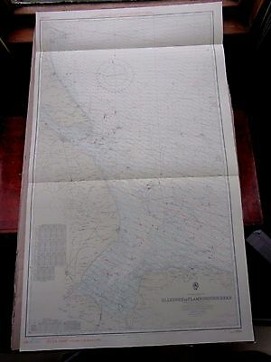 "1970 BLAKENEY to FLAMBOROUGH HEAD Admiralty Map Sea Chart 28"" x 46"" B96"