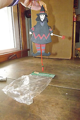 Midwest Importers Wooden Witch Halloween Decoration NIP U728