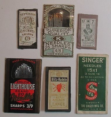 Collectible sewing needle lot - Singer, Lighthouse, Superior Royal, Blitz-Nadeln