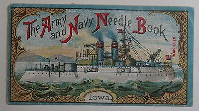 Vintage Army & Navy Needle Book ~ Iowa ~ made in Germany