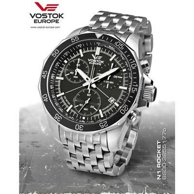 Vostok Europe N1 Rocket Chrono Line Silver/Silver Watch 6S30/2255177B