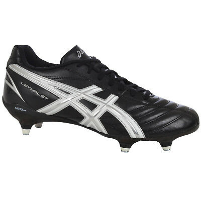Asics Mens Lethal St Soft Ground Removable Studs SG Rugby Boots - Black