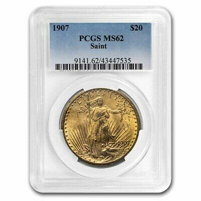1907 $20 Saint-Gaudens Gold Double Eagle MS-62 PCGS - SKU #19076