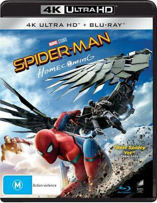 Spider-Man - Homecoming | Blu-ray + UHD + UV - Blu Ray Region A,B,C Free Shippin