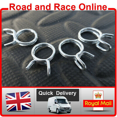 10mm Fuel Line Petrol Pipe Clip / Clamps Spring Wire Type Pack x 4 Suit Kawasaki