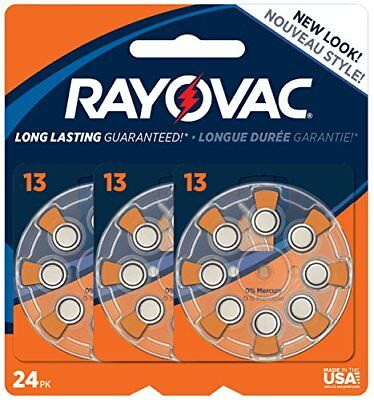 Rayovac MF Hearing Aid Batteries, Size 13, 24-Pack (L13ZA-24ZM)