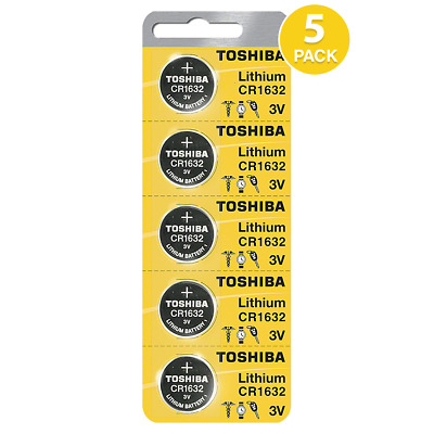 Toshiba CR1632 3 Volt Lithium Coin Battery (5 Batteries) - Tracking Included!