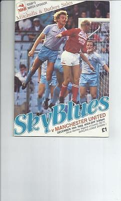 Coventry City v Manchester United Football Programme 1988/89