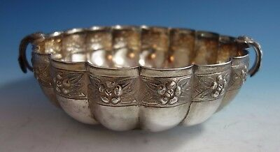 Aztec Rose by Sanborns Mexican Mexico Sterling Silver Fruit Bowl (#1776)