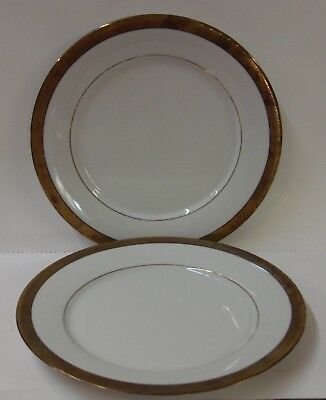 Centurion Collection PURE GOLD Dinner Plates SET OF TWO More Items Available
