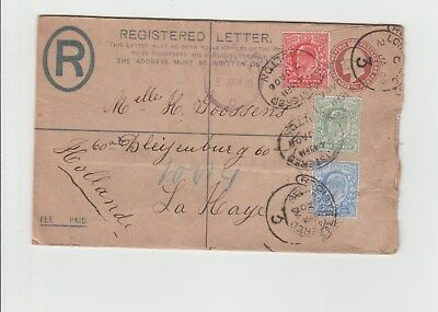 1906 Registered Envelope to Holland 1906