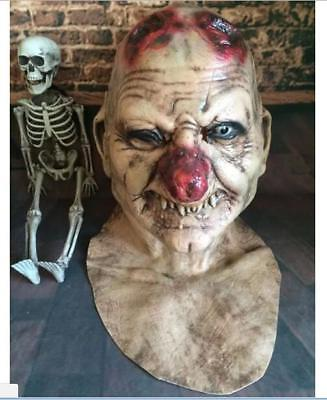 Halloween Party Cankered Red Nose Zombie Latex Mask Costume Fancy Dress Horror