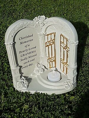 Beautiful Grave Memorial grandma Ornament Remembrance Gates To Heaven Flickering