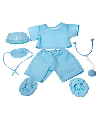 """Doctor surgeon scrubs outfit teddy bear clothes fits 15"""" Build a Bear"""