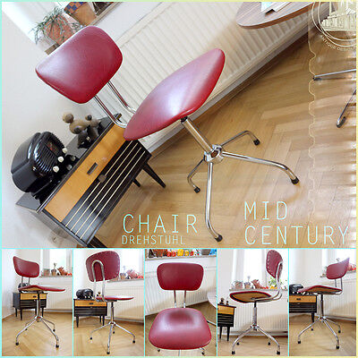 Wonderful Vintage Mid Century Modern Chrome Swivel Chair Dreh ❤️ Stuhl Panton Èr