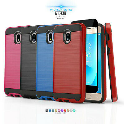 Fusion Armor Hard Cover Phone Case For [Motorola Moto Z2 Force] +Tempered Glass