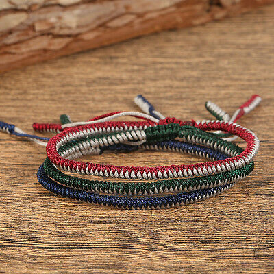 Tibetan Buddhist Handmade Knots Lucky Rope Bracelet Size Adjustable Rope chain