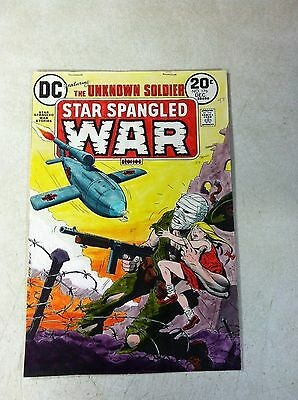 STAR SPANGLED WAR #176 original hand colored cover art 1970'S UNKNOWN SOLDIER