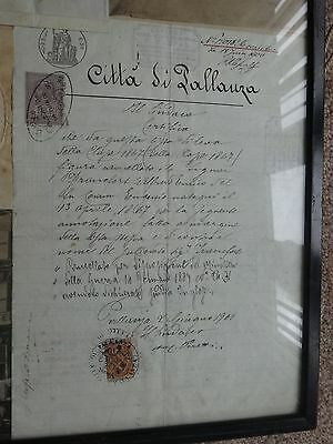 Two antique documents 1900