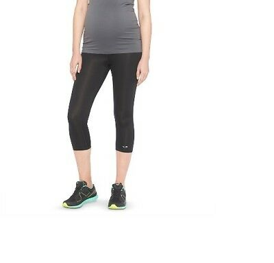 CHAMPION C9 Womens Maternity Under The Belly Active Wear Capris BLACK Small NEW