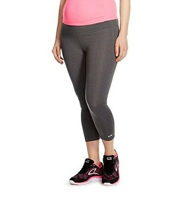CHAMPION C9 Womens Maternity Under The Belly Active Wear Capris GRAY X-Small NEW