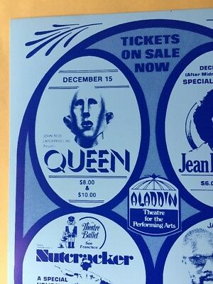 Rock Band Queen Aladdin Casino Concert Handbill Tina Turner