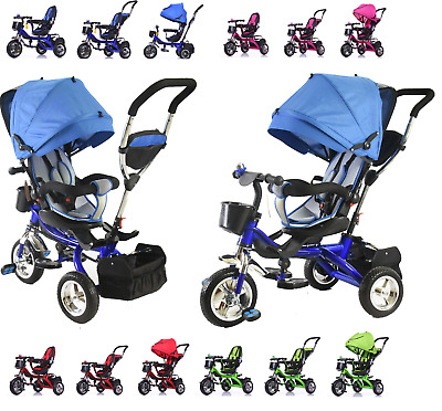 MiniMinors Premium Quality 4 in1 Kids Children Trike Tricycle 3 Wheel Ride Bike