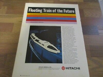 Hitachi America -  Floating Train of the Future 1970 Print Ad