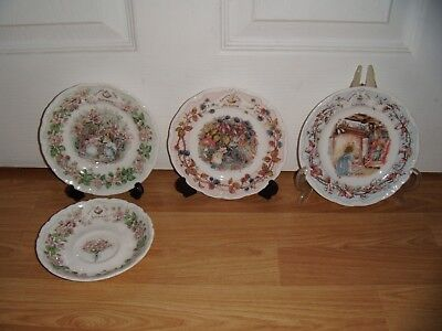 Royal Doulton Brambly Hedge ~ Summer Plate Or Saucer ~ Autumn Or Winter Plate