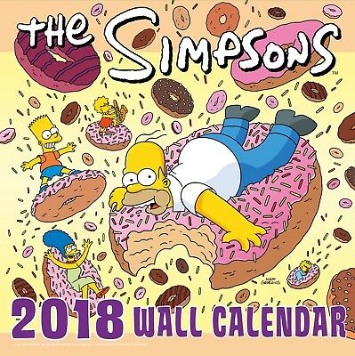The Simpsons Official 2018 Square Wall Calendar Homer Bart BRAND NEW XMAS GIFT
