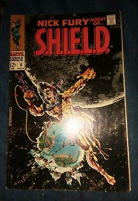 Nick Fury Agent of Shield 6 VG- 3.5 famous Jim Steranko cover art lot collection