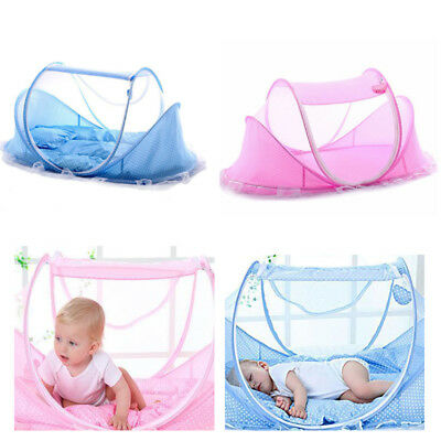 Baby Portable Folding Travel Bed Crib Cot Canopy Mosquito Net Sleeping Tent
