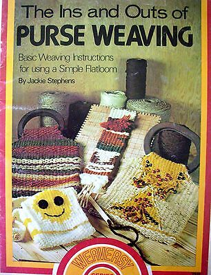 THE INS AND OUTS OF PURSE WEAVING - Booklet from The Weaveasy Series - VGC