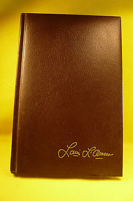 """Vintage 1981 Louis L'amour Leatherette Hard Cover Silver Canyon-6 X 9 1/4"""""""