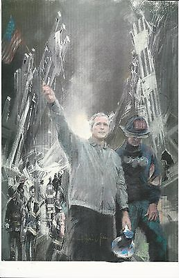911 WORLD TRADE CENTER 11X17  HEAVY GLOSS POSTER GEORGE BUSH signed