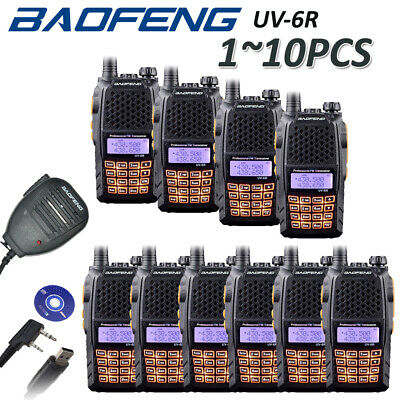 BAOFENG UV-6R UHF/VHF Ham Radio Dual Band 136-174/400-520Mhz Walkie Talkie > 5R