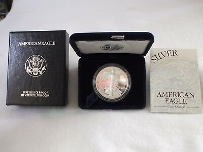1996-P Proof American Silver Eagle Coin  - One Troy oz .999 Bullion