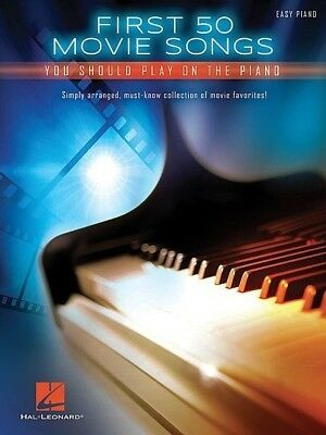 First 50 Movie Songs Easy Piano Book *NEW* Sheet Music, Pop