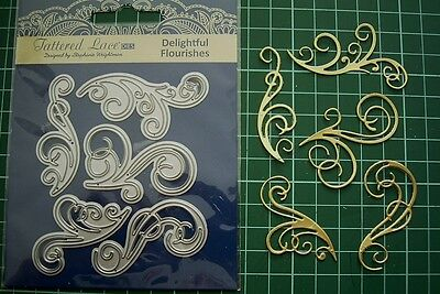 DELIGHTFUL FLOURISHES DIE SET - TLD0104 - Tattered Lace -Stephanie Weightman