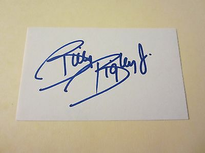 Billy Bigley Jr. Driver Autographed Signed 3X5 Index Card NASCAR Racing