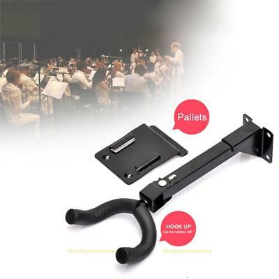 180°Rotatable Electric Guitar Stand Long Arm Wall Hanger Guitar Hook Holder New