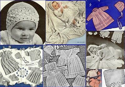 60+ Vintage Baby Knitting Patterns ~ vintage designs ~ Layettes Shawls + MORE